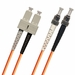 ST-SC Fiber Patch Cable, Multimode 62.5/125 OM1, Duplex