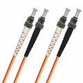 ST-ST Fiber Patch Cable, Multimode 50/125 OM2, Duplex