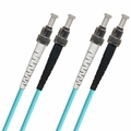 ST-ST Fiber Patch Cable, PC, Multimode 50/125 10 Gb OM4, Duplex