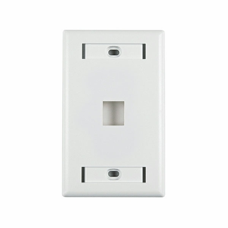 Standard Single Gang 1-Port with ID Window Faceplate