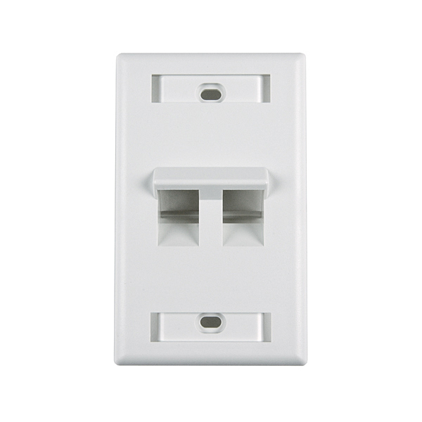Outlet Faceplate Awesome Angled Outlet Faceplate With Id Window Two Ports  Cables Plus Usa 2017