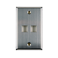 Two Port Flush Mount Faceplate - Stainless Steel