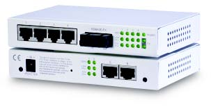 Web base Managed 7-port switch with 6 x UTP & 1 x 100FX, Multimode, MT-RJ