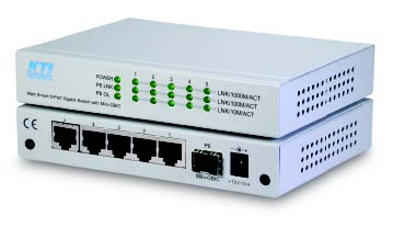 Web Smart switch, 4x10/100/1000 +1x1000SX, Multimode LC, 500M