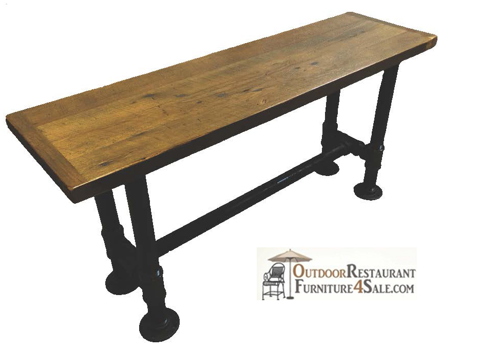 2u0026quot; Black Iron Pipe Restaurant Table Base
