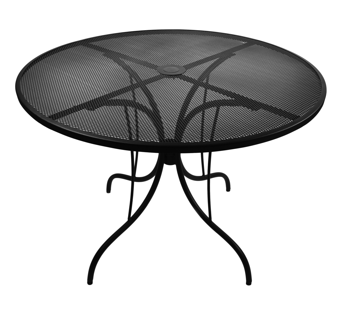 30 Round Galvanized Steel Mesh Commercial Outdoor Table