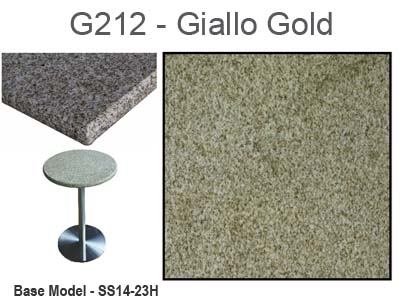 Art Marble Giallo Gold Granite Tabletop With Plywood Core (13 Sizes  Available)