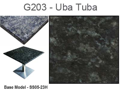 Art Marble Uba Tuba Granite Tabletop With Plywood Core (13 Sizes Available)