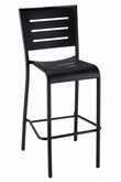 Athena Collection Outdoor Bar Stool in Black
