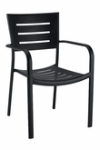 Athena Collection Outdoor Chair in Black