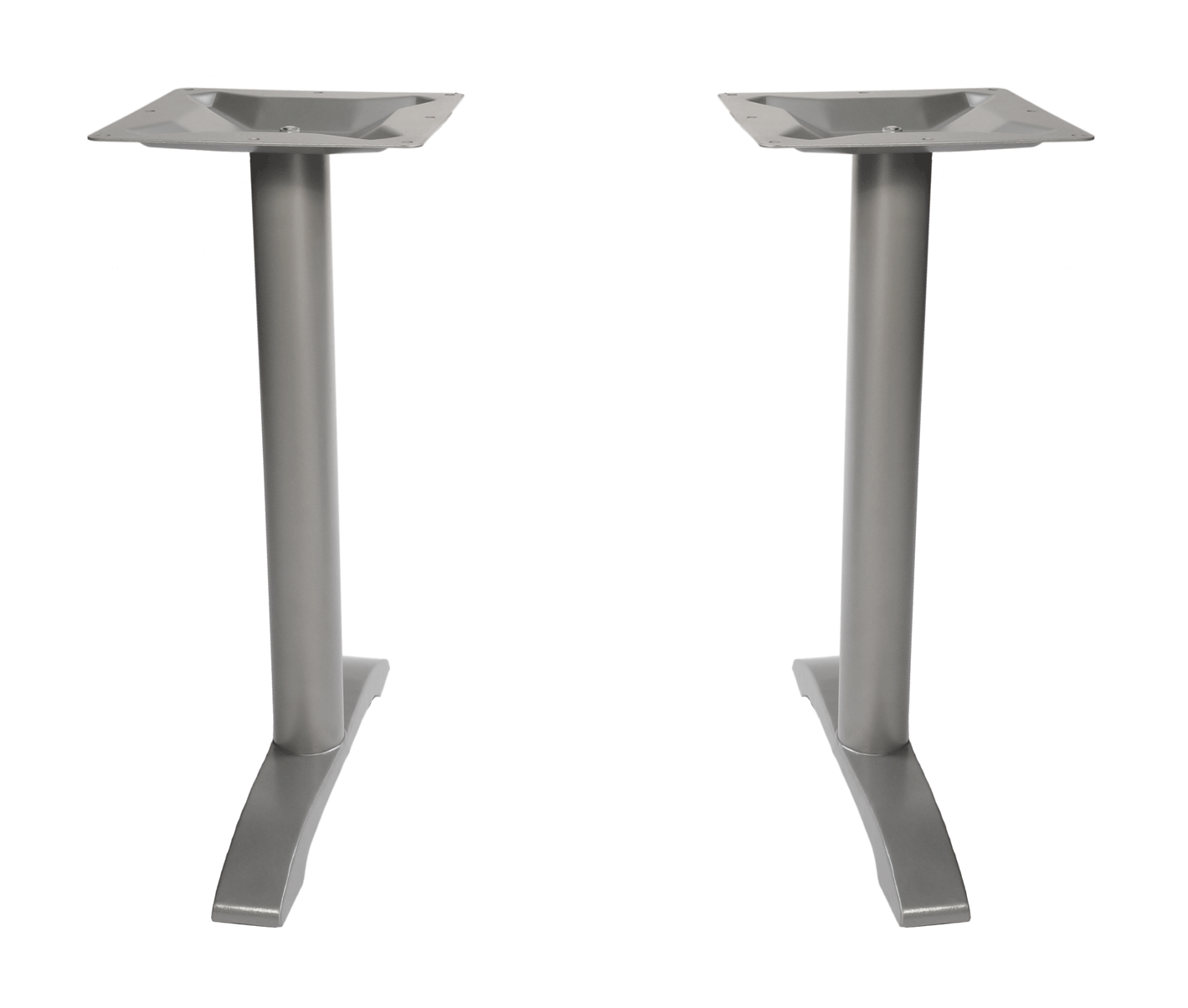 Cast iron steel commercial bar height table end bases for Cast iron table ends