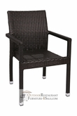 Cayman Collection Synthetic Wicker Arm Chair
