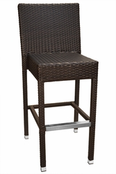 Cayman Collection Synthetic Wicker Bar Stool