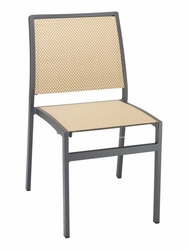 Florida Seating Black Aluminum & Batyline Weave Side Chair (Available in 11 Colors)
