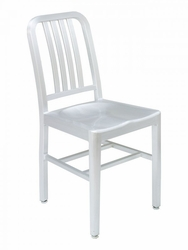 Florida Seating Brushed Aluminum Chair with Clear Coat Finish