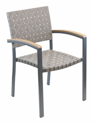 Florida Seating Mesh Belt Stackable Arm Chair (2 Colors Available)