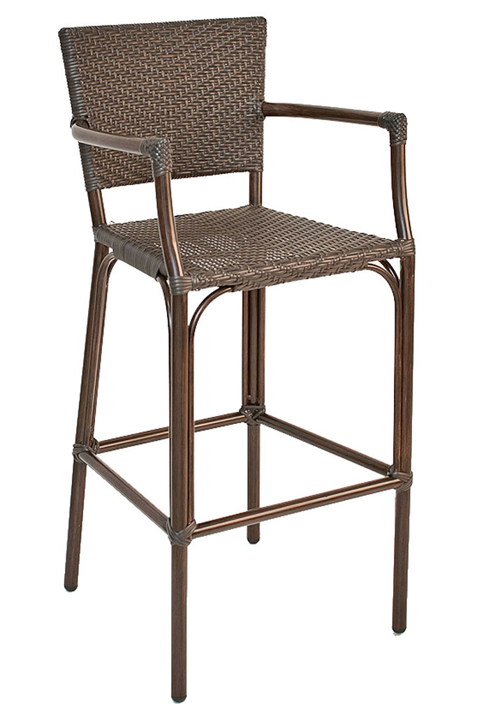 seating safari outdoor commercial aluminum patio bar stool black stools brushed backless canada