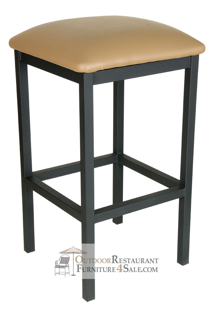GLADIATOR Black Backless Square Bar Stool w Choice of  : gladiator black backless square bar stool w choice of seat pad color 5 from www.outdoorrestaurantfurniture4sale.com size 683 x 1024 jpeg 53kB