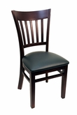 GLADIATOR Vertical Back Wooden Restaurant Chair - Available in Choice of Finish Color