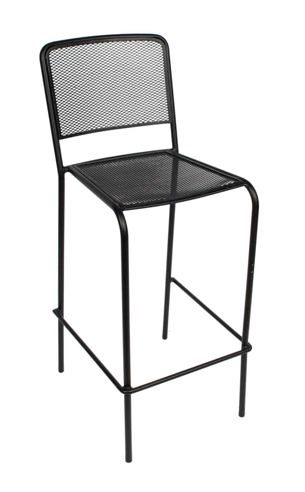 Indoor/Outdoor Galvanized Steel Micro Mesh Seat And Back Stacking Bar Stool  (Chesapeake)