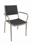 Outdoor Aluminum Frame / Synthetic Wicker Arm Chair (Cocoa Beach)