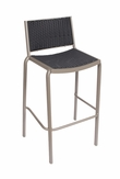 Outdoor Aluminum Frame / Synthetic Wicker Bar Stool (Cocoa Beach)