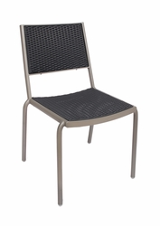 Outdoor Aluminum Frame / Synthetic Wicker Side Chair (Cocoa Beach)