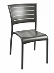 Outdoor Aluminum Riviera Restaurant Side Chair