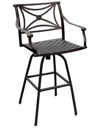 Outdoor Cast Aluminum, Wrought Iron, & Weatherized Steel Restaurant Bar Stools