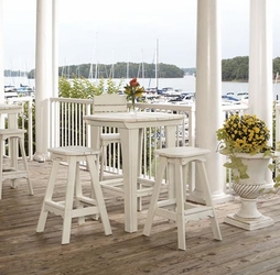 Outdoor Poly Lumber Restaurant Bar Stools <p>Eco-Friendly Furniture