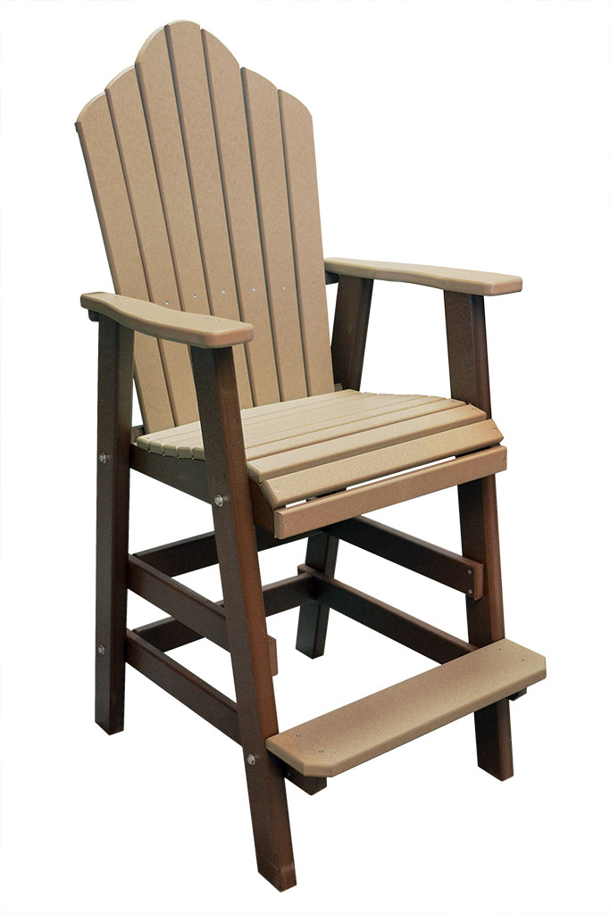 outer banks adirondack crown fanback poly lumber bar stool g
