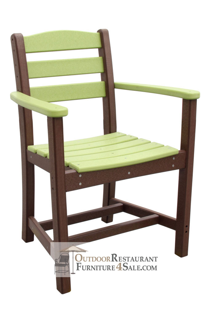 Outer Banks Ladder Back Poly Lumber Dining Chair with Arms