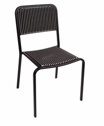 Patterned Wicker Aluminum Side Chair