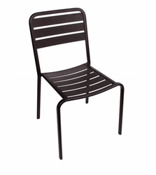 Stacking Aluminum Side Chair in Black
