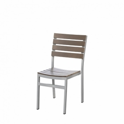 Vienna Aluminum / Durawood Outdoor Restaurant Side Chair