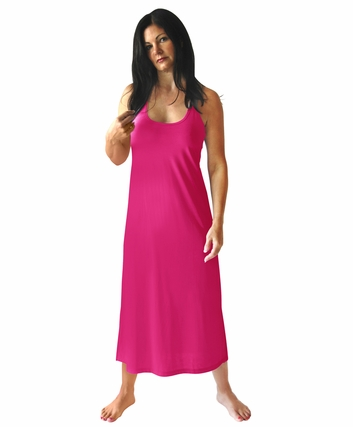 LONG RACERBACK TANK NIGHTGOWN WITH SHELF BRA