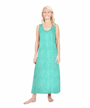 MOISTURE WICKING LONG TANK NIGHTGOWN