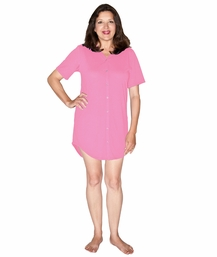 MOISTURE WICKING SNAP FRONT NIGHTSHIRT