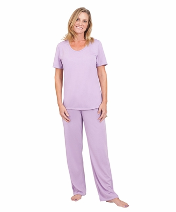 SCOOP NECK PAJAMA SET