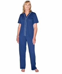 WICKING SONYA SNAP FRONT PAJAMA SET