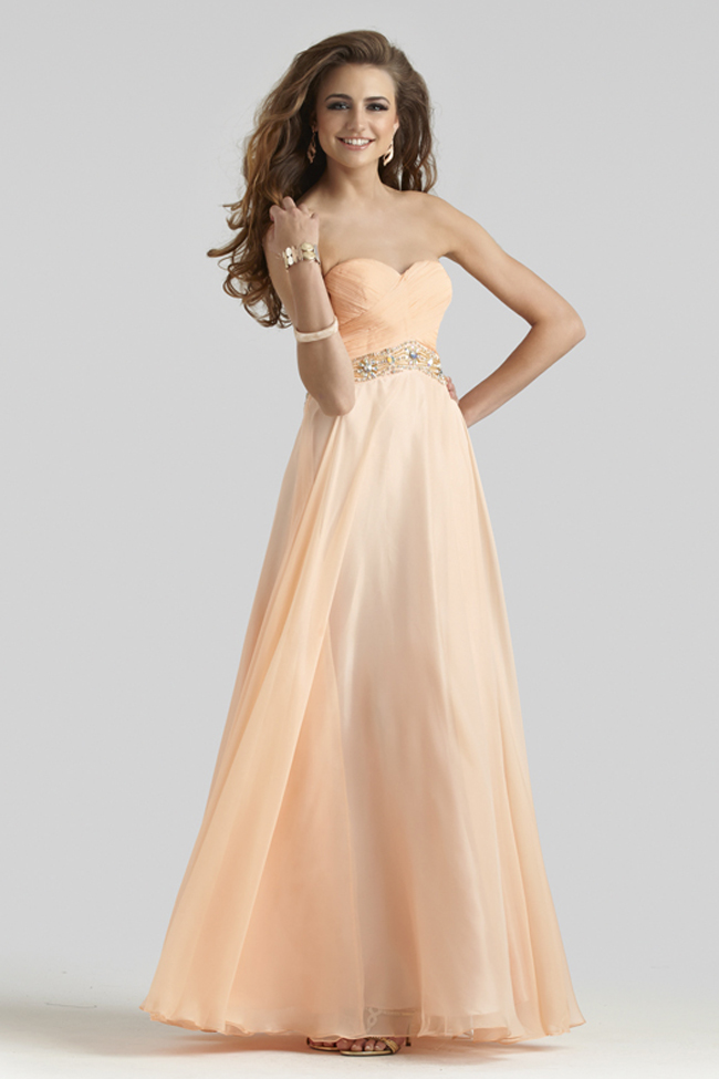 Clarisse 2014 Light Peach Strapless A-Line Prom Gown 2401 ...