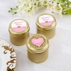 Gold candy tins with Personalized stickers set 12