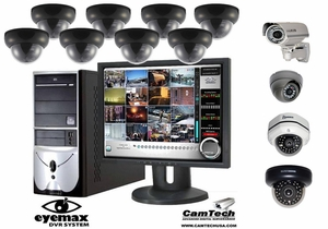 1-16 Camera Fully Customizable Complete Surveillance CCTV System w/ Eyemax DVR