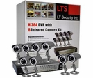 8 Camera CCTV System, Network Ready, H.264 Video Compression, Nightvision Cameras