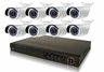 8 Camera IP Surveillance System with 3 MegaPixel High Definition IP Bullet Cameras