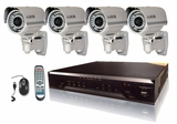 CT400IR - Complete 4 Camera CCTV System with 4 Infrared Weatherproof Cameras