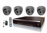 CT400VR - Complete 4 Camera CCTV System with 4 Infrared Vandal Resistant, Weatherproof Cameras