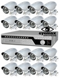 DSR-16IR 16 Security Camera System, Outdoor, Night Vision CCTV Package