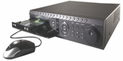H.264 Advanced Video Compression Standalone 8 Ch DVR 240/240FPS 500GB