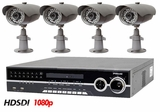 HD-SDI-4IR High Definition Full HD 1080p SDI 4 Camera Night Vision Infrared CCTV System for Indoor and Outdoor